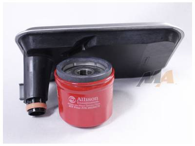 01-04 LB7 Duramax - Filters - Merchant Automotive - 01-10 Allison Internal and Spin On Filter Combo (Shallow Pan)