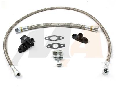 Turbo Kits, Turbos, Wheels, and Misc - Oil Feed/Drain Lines & Fittings - Merchant Automotive - Merchant 01-10 S400 Valley Oil Line&Fitting Kit