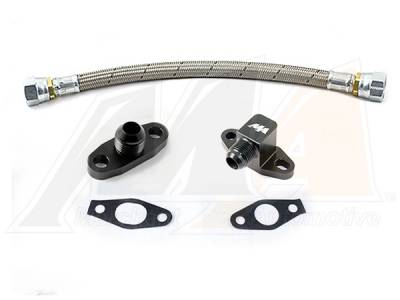 Turbo Kits, Turbos, Wheels, and Misc - Oil Feed/Drain Lines & Fittings - Merchant Automotive - Merchant 01+ Duramax S-400 Turbo Drain Kit