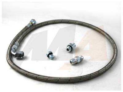 Turbo Kits, Turbos, Wheels, and Misc - Oil Feed/Drain Lines & Fittings - Merchant Automotive - 01+ Duramax S400 Oil Feed Line Kit