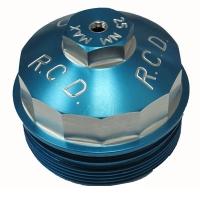 03-07 6.0 Powerstroke - Filters - River City Diesel - RCD 6.0 Powerstroke Billet Aluminum Upper Fuel Filter Cap