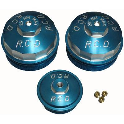 03-07 6.0 Powerstroke - Filters - River City Diesel - RCD 6.0 Powerstroke Billet Aluminum Filter Cap Kit