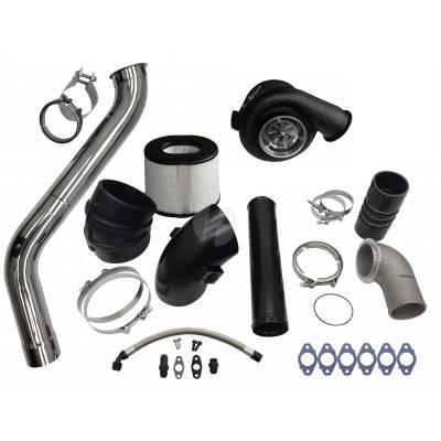 Turbo Kits, Turbos, Wheels, and Misc - Single Turbo Kits - Fleece - Fleece 2nd Gen Swap Kit (No Manifold) & Billet S475 Turbocharger for 3rd Gen 5.9L Cummins (2003-2007)