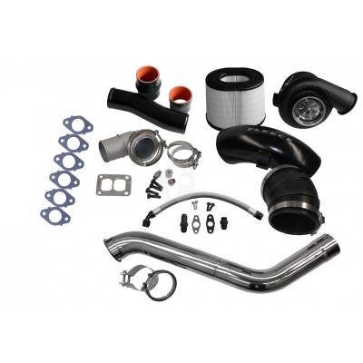 Turbo Kits, Turbos, Wheels, and Misc - Single Turbo Kits - Fleece - Fleece 2nd Gen Swap Kit (No Manifold) & Billet S471 Turbocharger for 4th Gen Cummins (2010+)