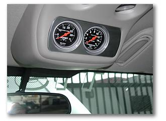 Instrument Gauges/Pods/Hardware - Pods & Pillars - Socal Diesel - Socal Duramax Billet Overhead Gauge Mount - Polished