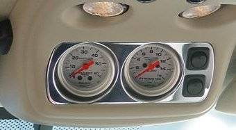 Instrument Gauges/Pods/Hardware - Pods & Pillars - Socal Diesel - Socal Duramax Billet Overhead Gauge Mount w/Switches - Polished