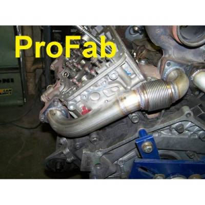 Exhaust - Exhaust Manifolds - ProFab - ProFab 01+ Duramax CastFlow Driver Side Up-pipe