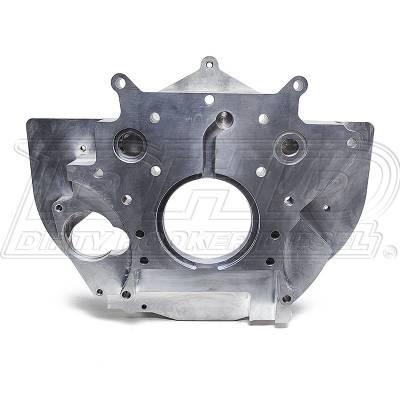 DHD Diesel - DHD Billet Aluminum Rear Engine Plate With Tabs 01-10 Duramax Diesel