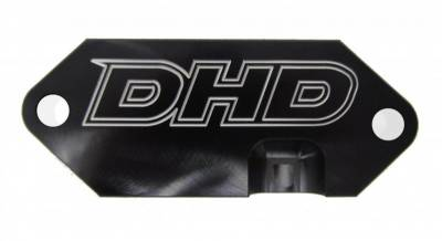 07.5-10 LMM Duramax - Cooling System - DHD Diesel - DHD Billet Coolant Rear Engine Cover Block Off Plate
