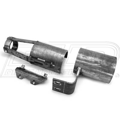 04.5-05 LLY Duramax - Sled Pulling Parts - DHD Diesel - DHD Front Drive Shaft Blow Shields Steel 2001-2010