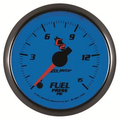 """Auto Meter - AutoMeter C2 Digital 2-1/16"""" 0-15 PSI Fuel Pressure - Image 2"""