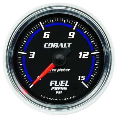 "Instrument Clusters/Gauges - Gauges - Auto Meter - AutoMeter Cobalt Digital 2-1/16"" 0-15 PSI Fuel Pressure"