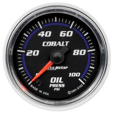 "Instrument Clusters/Gauges - Gauges - Auto Meter - AutoMeter Cobalt Digital 2-1/16"" 0-100 PSI Oil Pressure"