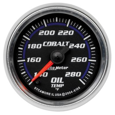 "Instrument Clusters/Gauges - Gauges - Auto Meter - AutoMeter Cobalt Digital 2-1/16"" 140-280°F Oil Temperature"