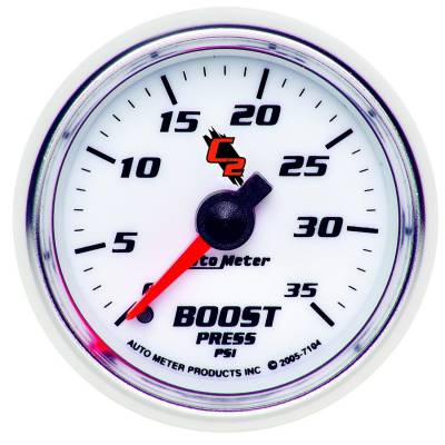 "Instrument Clusters/Gauges - Gauges - Auto Meter - AutoMeter C2 Mechanical 2-1/16"" 0-35 PSI Boost"