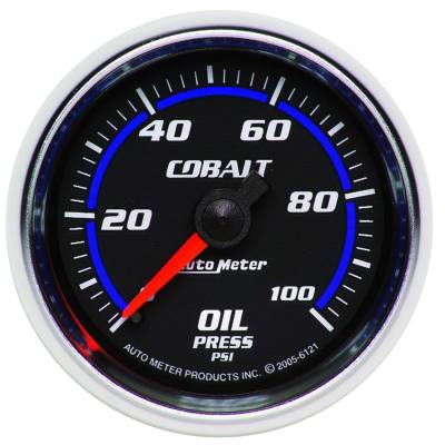"Instrument Clusters/Gauges - Gauges - Auto Meter - AutoMeter Cobalt Mechanical 2-1/16"" 0-100 PSI Oil Pressure"