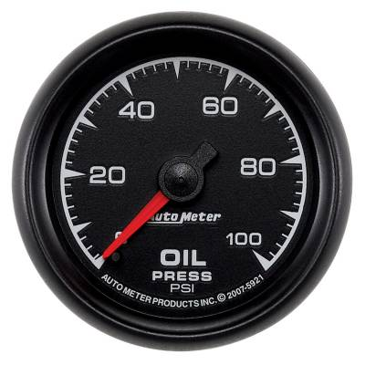 "Instrument Clusters/Gauges - Gauges - Auto Meter - AutoMeter ES Mechanical 2-1/16"" 0-100 PSI Oil Pressure"