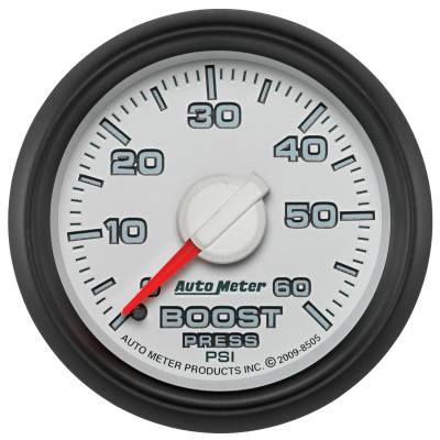 "Auto Meter - AutoMeter Dodge 3rd Gen Factory Match Mechanical 2-1/16"" 0-60 PSI Boost"