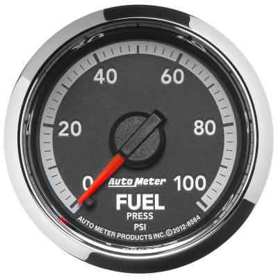 "Auto Meter - AutoMeter Dodge 4th Gen Factory Match Digital 2-1/16"" 0-100 PSI Fuel Pressure"