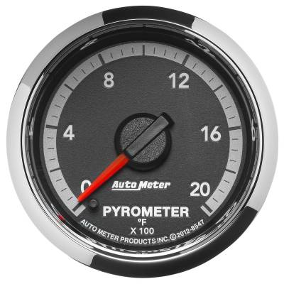 "Auto Meter - AutoMeter Dodge 4th Gen Factory Match Digital 2-1/16"" 0-2000°F Pyrometer"
