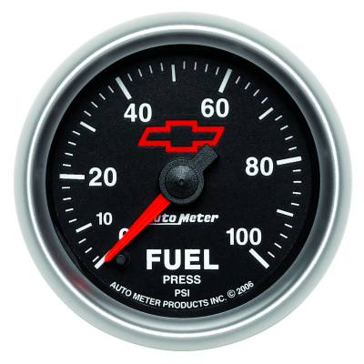 "Instrument Clusters/Gauges - Gauges - Auto Meter - AutoMeter GM Black Digital 2-1/16"" 0-100 PSI Fuel Pressure"
