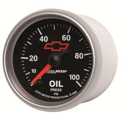 "Instrument Clusters/Gauges - Gauges - Auto Meter - AutoMeter GM Black Digital 2-1/16"" 0-100 PSI Oil Pressure"