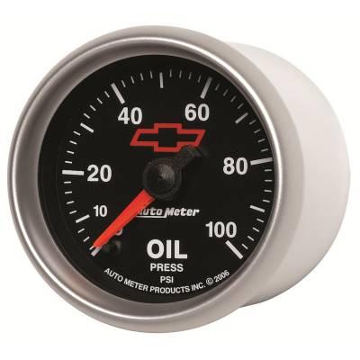 "Auto Meter - AutoMeter GM Black Digital 2-1/16"" 0-100 PSI Oil Pressure"