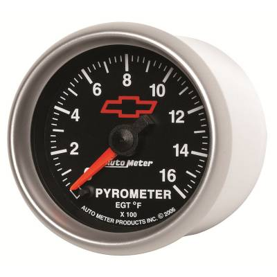 "Instrument Clusters/Gauges - Gauges - Auto Meter - AutoMeter GM Black Digital 2-1/16"" 0-1600°F Pyrometer"