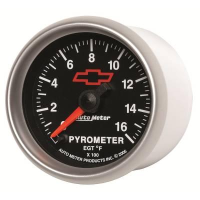 "Auto Meter - AutoMeter GM Black Digital 2-1/16"" 0-1600°F Pyrometer"