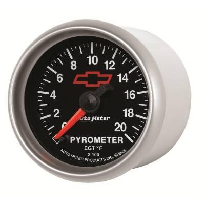 "Auto Meter - AutoMeter GM Black Digital 2-1/16"" 0-2000°F Pyrometer"