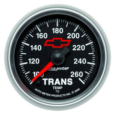 "Instrument Clusters/Gauges - Gauges - Auto Meter - AutoMeter GM Black Digital 2-1/16"" 100-260°F Transmission Temperature"