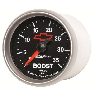 """Auto Meter - AutoMeter GM Black Mechanical 2-1/16"""" 0-35 PSI Boost"""