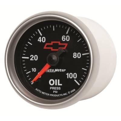 "Auto Meter - AutoMeter GM Black Mechanical 2-1/16"" 0-100 PSI Oil Pressure"