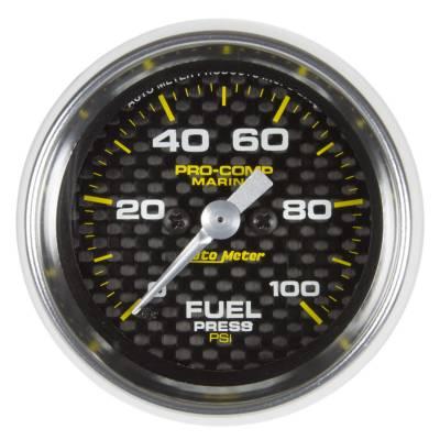 "Instrument Clusters/Gauges - Gauges - Auto Meter - AutoMeter Marine Carbon Fiber Digital 2-1/16"" 0-100 PSI Fuel Pressure"