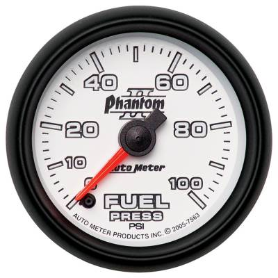 "Instrument Clusters/Gauges - Gauges - Auto Meter - AutoMeter Phantom II Digital 2-1/16"" 0-100 PSI Fuel Pressure"