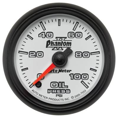 "Instrument Clusters/Gauges - Gauges - Auto Meter - AutoMeter Phantom II Digital 2-1/16"" 0-100 PSI Oil Pressure"