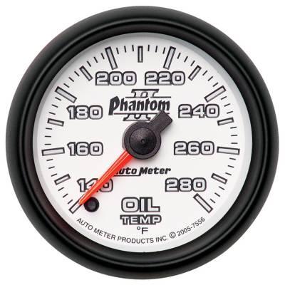 """Auto Meter - AutoMeter Phantom II Digital 2-1/16"""" 140-280°F Oil Temperature"""