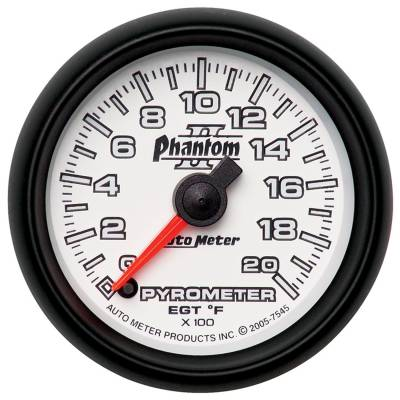 "Instrument Clusters/Gauges - Gauges - Auto Meter - AutoMeter Phantom II Digital 2-1/16"" 0-2000°F Pyrometer"