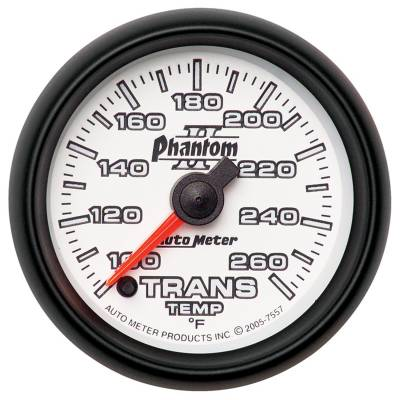 "Auto Meter - AutoMeter Phantom II Digital 2-1/16"" 100-260°F Transmission Temperature"