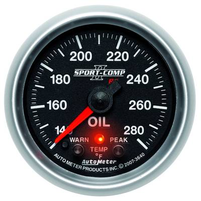 "Instrument Clusters/Gauges - Gauges - Auto Meter - AutoMeter Sport-Comp II Digital 2-1/16"" 140-280°F Oil Temperature"