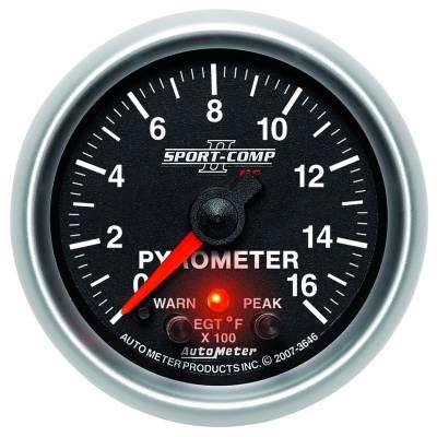 "Instrument Clusters/Gauges - Gauges - Auto Meter - AutoMeter Sport-Comp II Digital 2-1/16"" 0-1600°F Pyrometer"