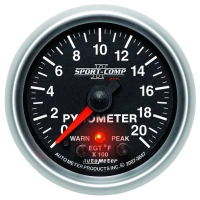 "Instrument Clusters/Gauges - Gauges - Auto Meter - AutoMeter Sport-Comp II Digital 2-1/16"" 0-2000°F Pyrometer"