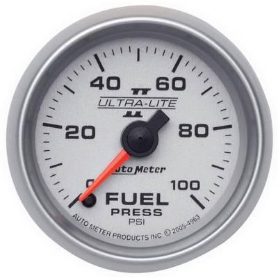 "Instrument Clusters/Gauges - Gauges - Auto Meter - AutoMeter Ultra-Lite II Digital 2-1/16"" 0-100 PSI Fuel Pressure"