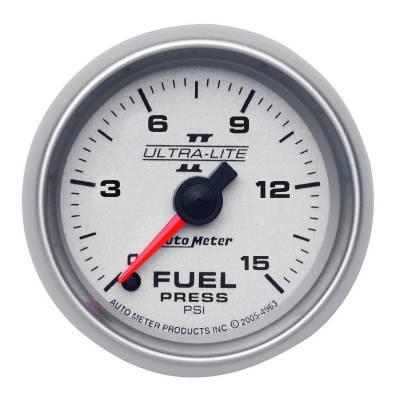 "Instrument Clusters/Gauges - Gauges - Auto Meter - AutoMeter Ultra-Lite II Digital 2-1/16"" 0-15 PSI Fuel Pressure"