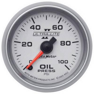 """AutoMeter Ultra-Lite II Digital 2-1/16"""" 0-100 PSI Oil Pressure"""