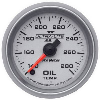 "Instrument Clusters/Gauges - Gauges - Auto Meter - AutoMeter Ultra-Lite II Digital 2-1/16"" 140-280°F Oil Temperature"