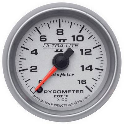"Instrument Clusters/Gauges - Gauges - Auto Meter - AutoMeter Ultra-Lite II Digital 2-1/16"" 0-1600°F Pyrometer"