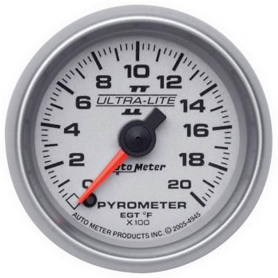"Instrument Clusters/Gauges - Gauges - Auto Meter - AutoMeter Ultra-Lite II Digital 2-1/16"" 0-2000°F Pyrometer"