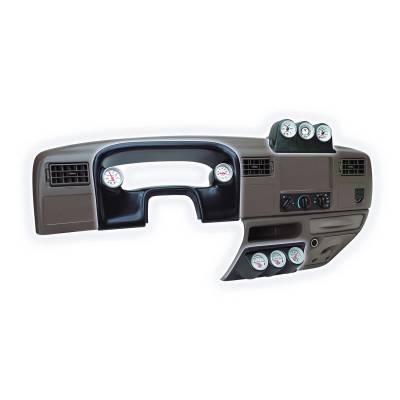 "Auto Meter - AutoMeter Ford Super Duty 99-04 Dash Console Lower, Triple Gauge Mount 2-1/16"""