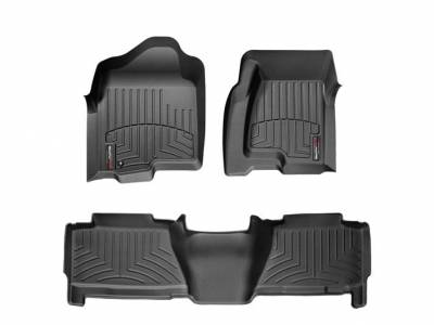 Interior Accessories - Accessories - WeatherTech - WeatherTech 2004-2007 Chevrolet/GMC Crew Cab Floor Liner 1st & 2nd Row-Black